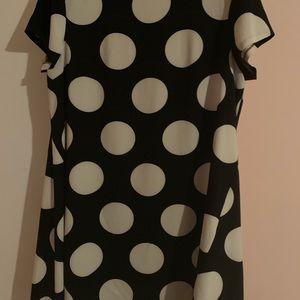 Donna Morgan polka dot dress, black & white 16